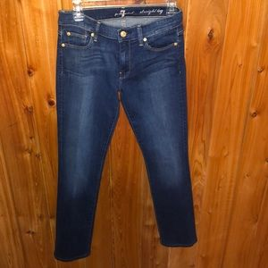 7 For All Mankind Straight Leg Jeans Size 28